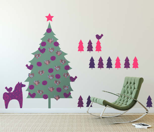 Diy adhesive Christmas Trees by Pixers7