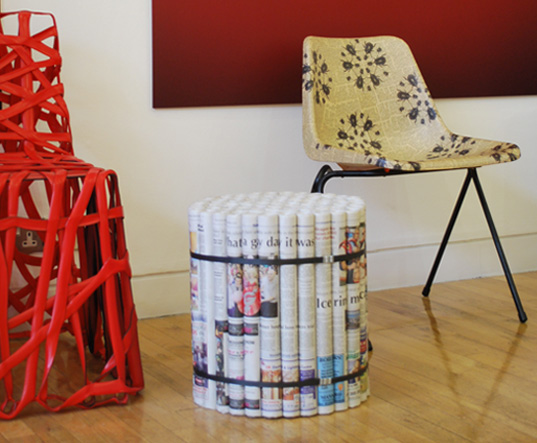 Diy Furniture made ​​from newspapers4