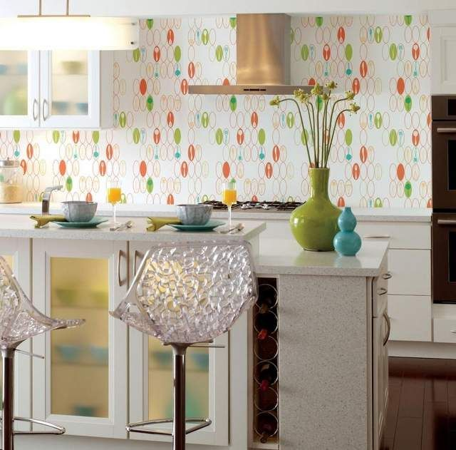 Wallpaper in the kitchen11