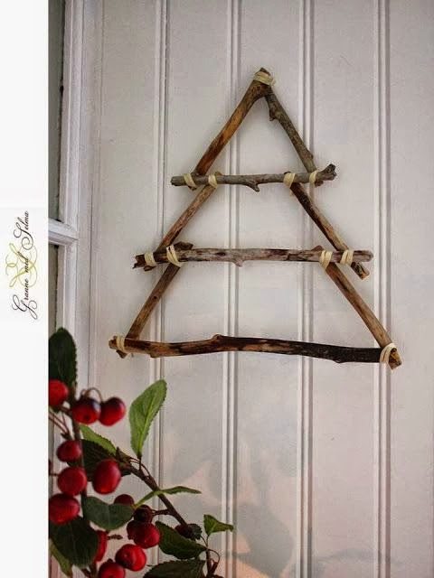 Christmas tree ideas from log and branches42