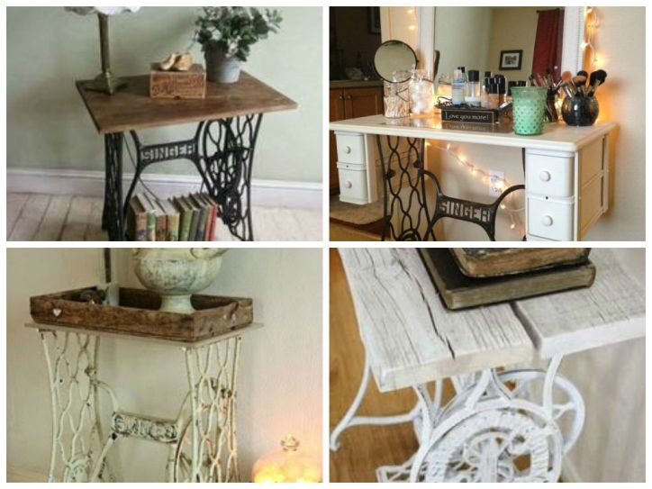 Vintage Decorations ideas with old sewing machines