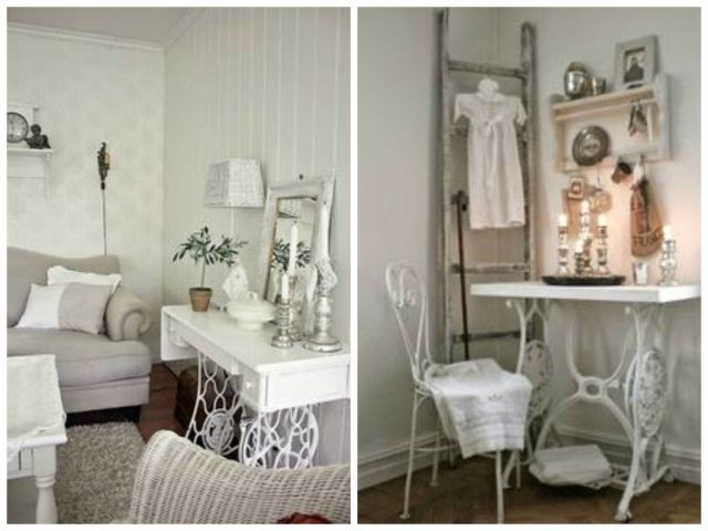 Vintage Decorations ideas with old sewing machines2