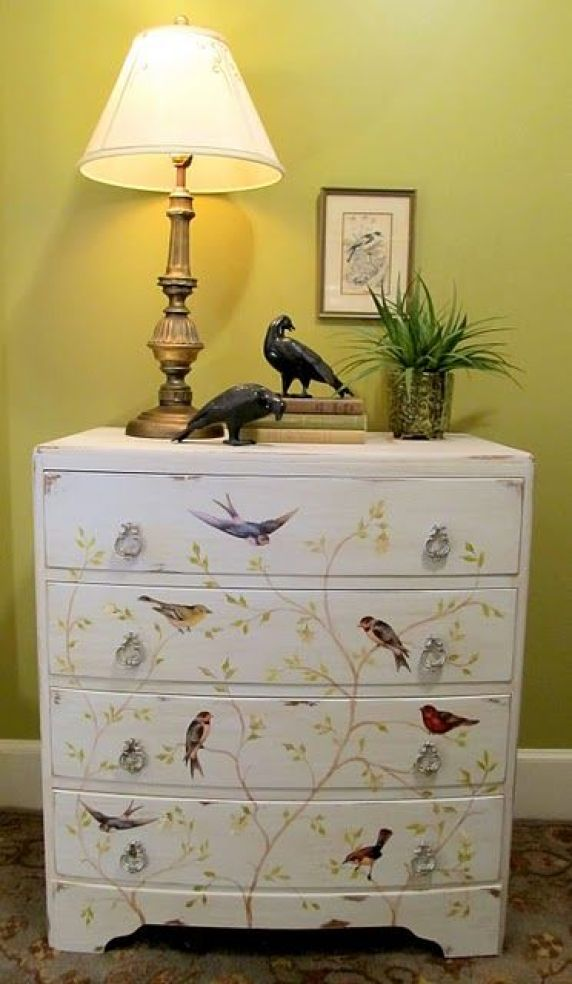 Furniture decoupage ideas6