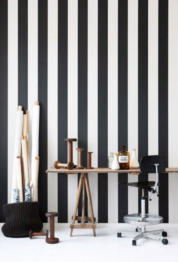 black and white stripes decor10