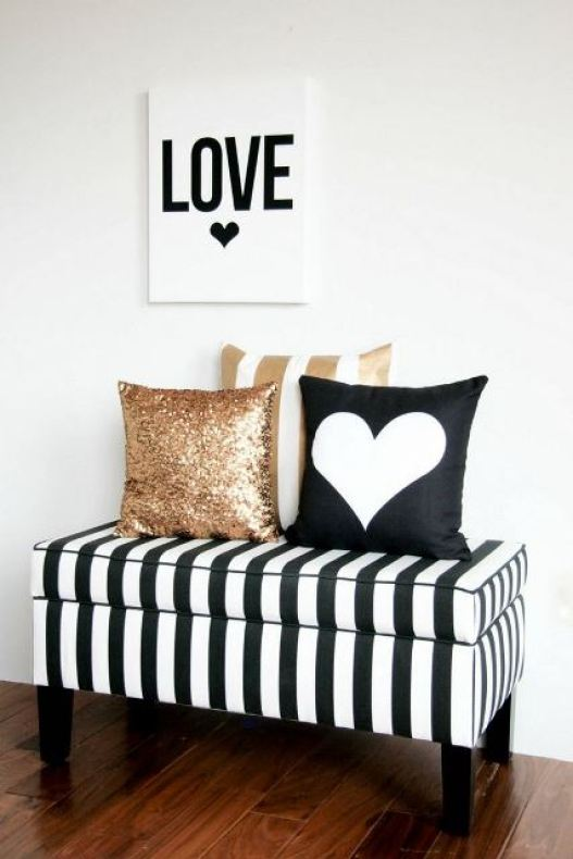 black and white stripes decor6