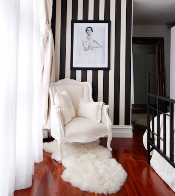 black and white stripes decor7