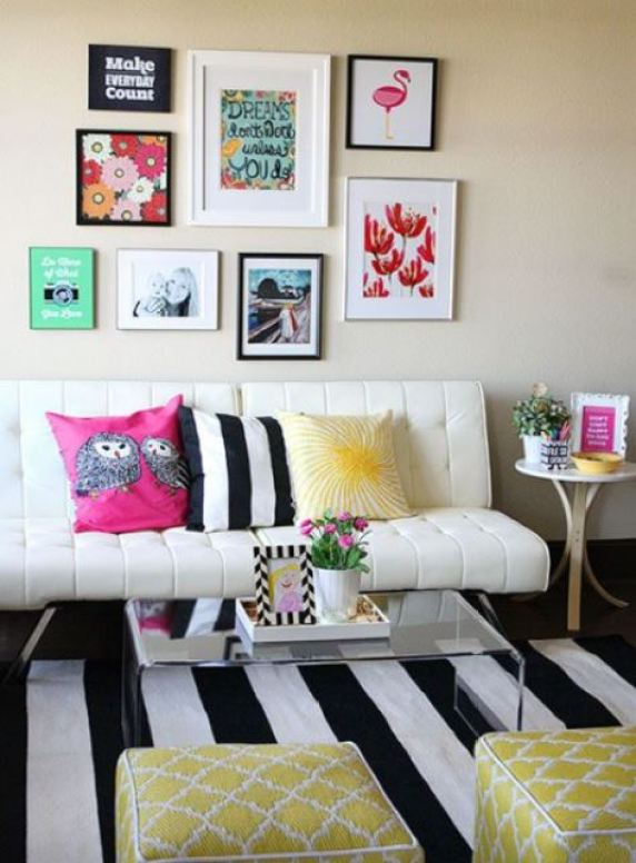 black and white stripes decor9