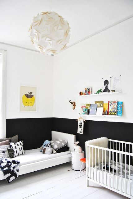 Black and white children's rooms ideas2