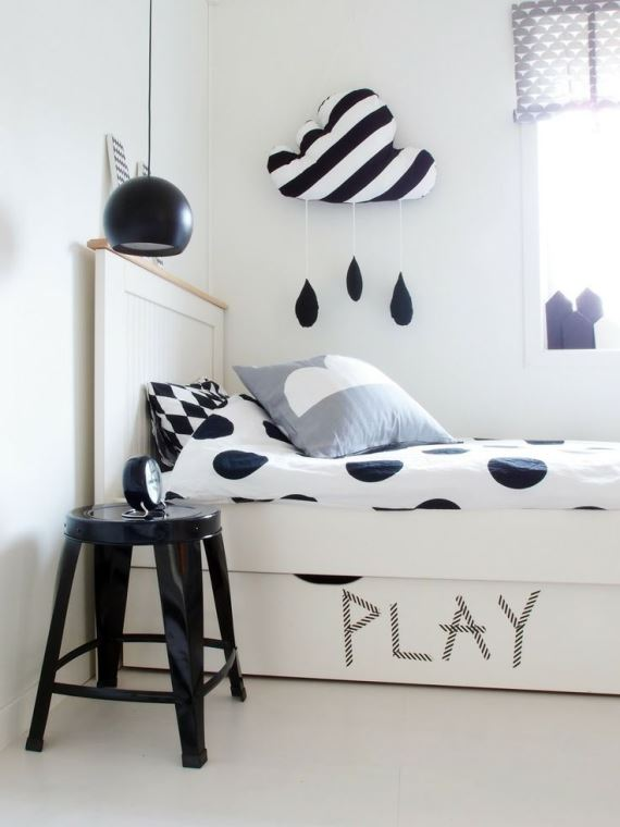 Black and white children's rooms ideas7