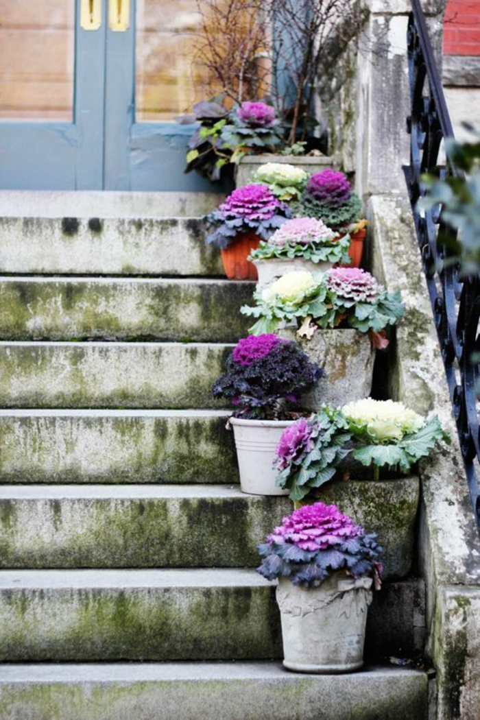 staircase pots decoration ideas6