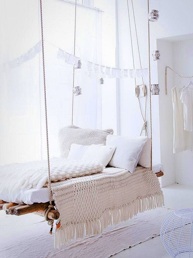 Hanging bed ideas13