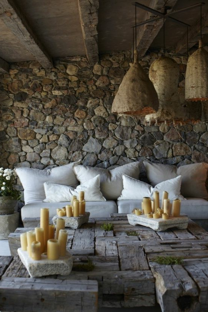 Exposed stone wall ideas38
