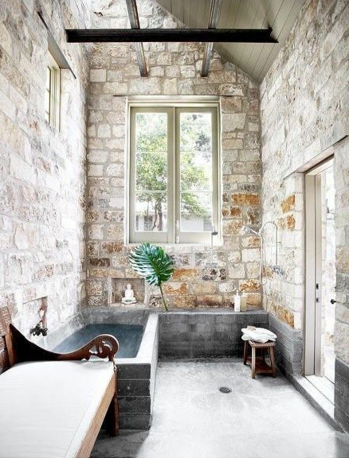 Exposed stone wall ideas52