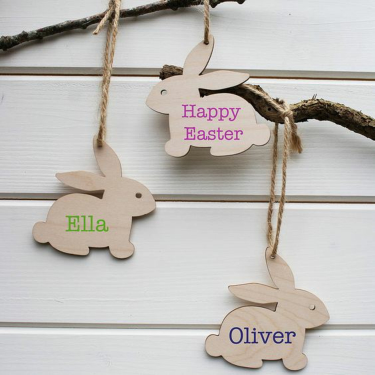 Easter decorations made of wood11