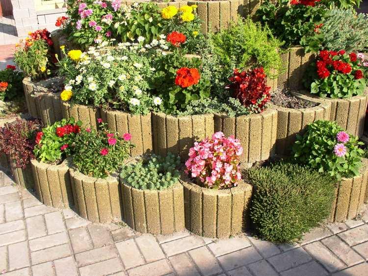 Concrete garden jardinières (6)