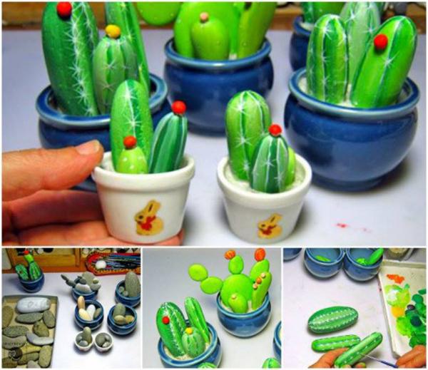 Diy Cactus from stones4