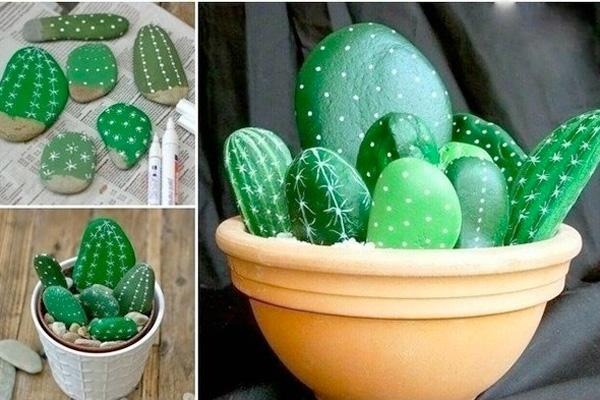 Diy Cactus from stones5