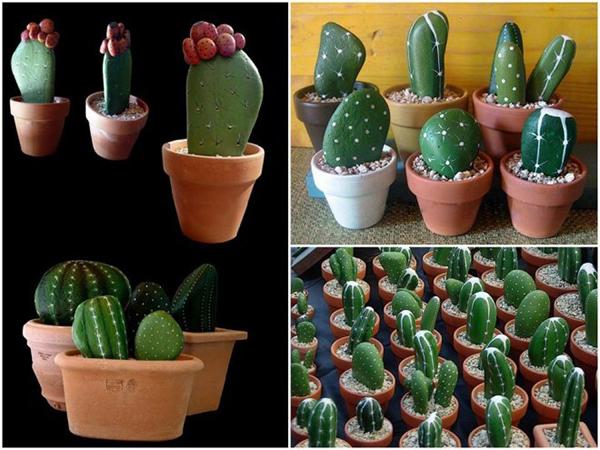 Diy Cactus from stones6