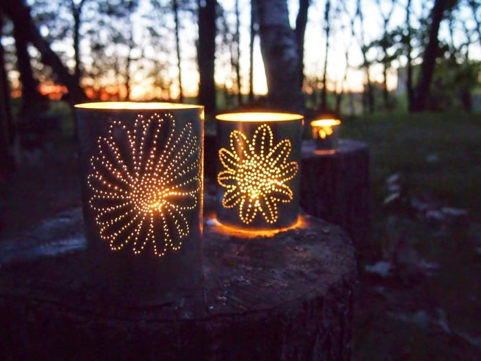 diy lanterns from metal cans2