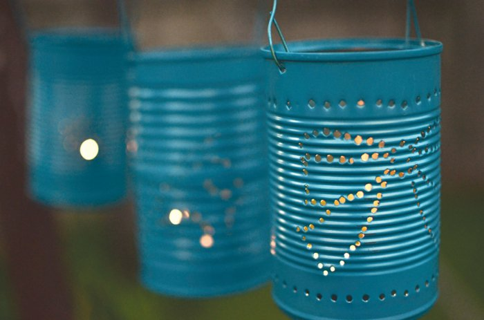 diy lanterns from metal cans4