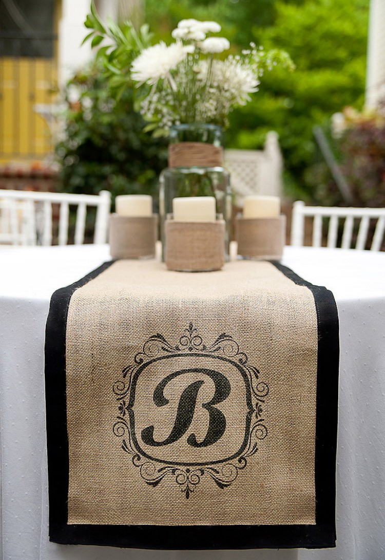 Burlap Table Runner ideas (20)