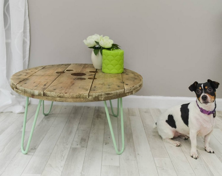 coffee table from wire spools (7)