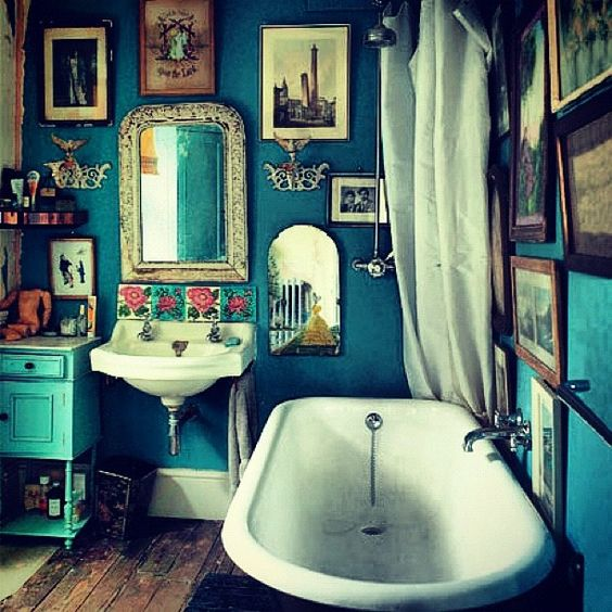 Bohemian style in the bathroom6