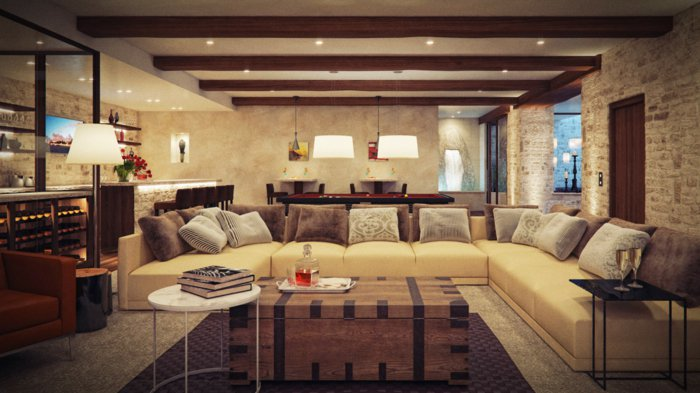 Rustic lounge ideas50