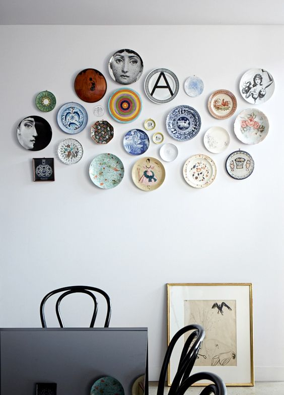 decorating walls with dishes20
