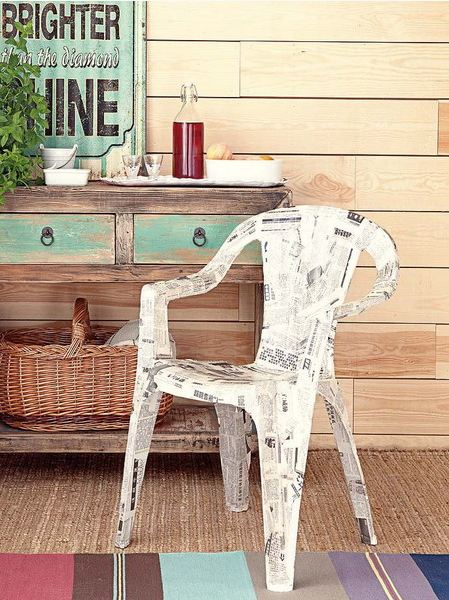 furniture decoupage from newspaper9