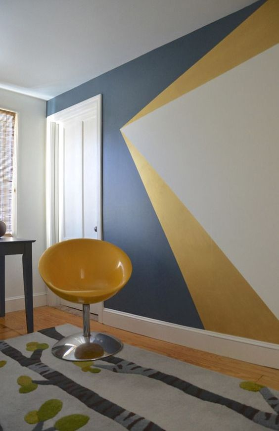 geometric shapes color wall deco10