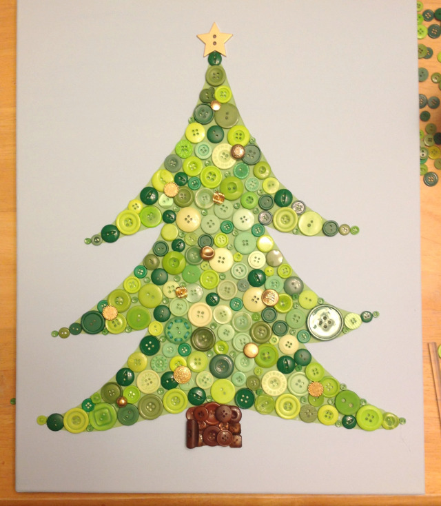Christmas DIY crafts from buttons (2)