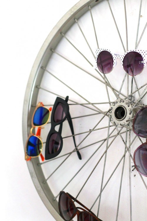 DIY by recycling bicycle wheels17