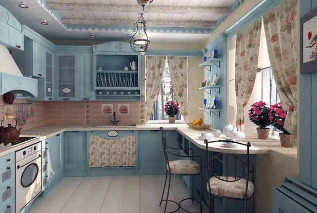 small kitchen in the style of Provence26