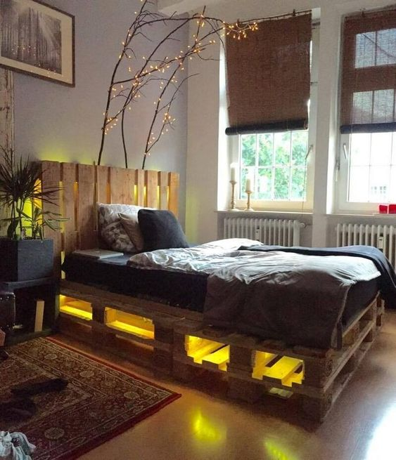 Pallets Bed Ideas9