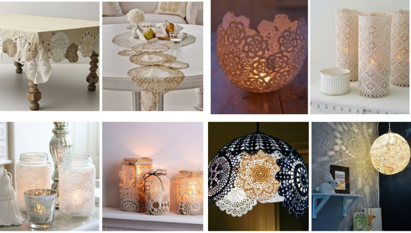 Wonderful Diy Craft Ideas From Doilies And Lace For Your Home Decoration My Desired Home