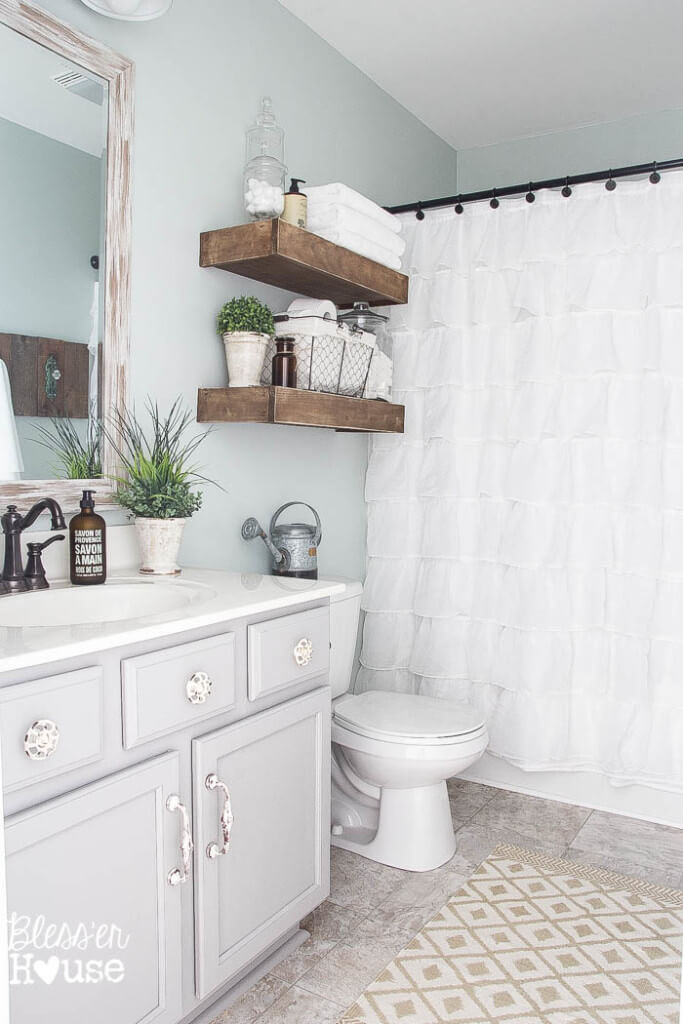 Wonderful ideas for decorating your bathroom in shabby ...