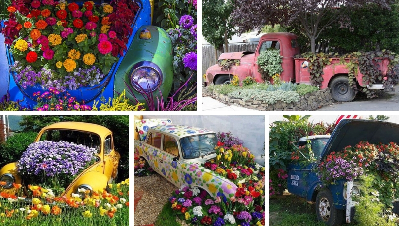 Spectacular Diy Car Flower Bed Ideas My Desired Home
