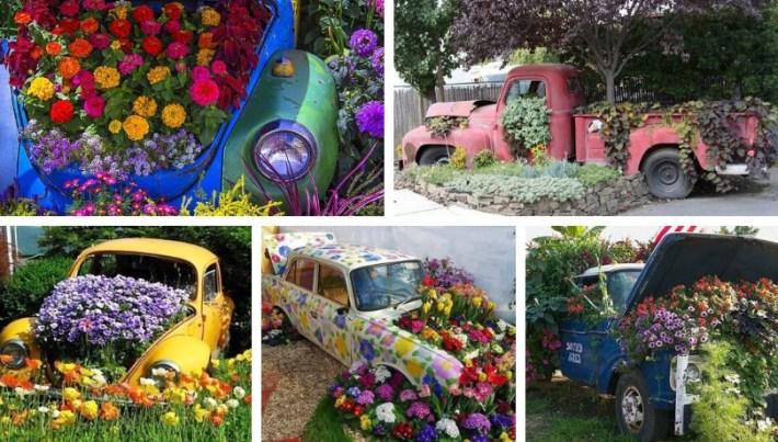 Spectacular Diy Car Flower Bed Ideas My Desired Home