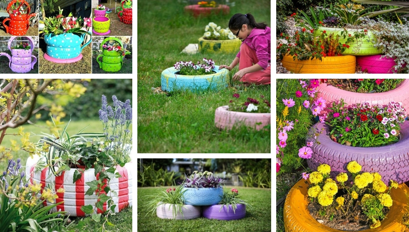 Amazing DIY Flower Beds Made Of Old Tires U2013 Great Ideas To Boost Your Garden