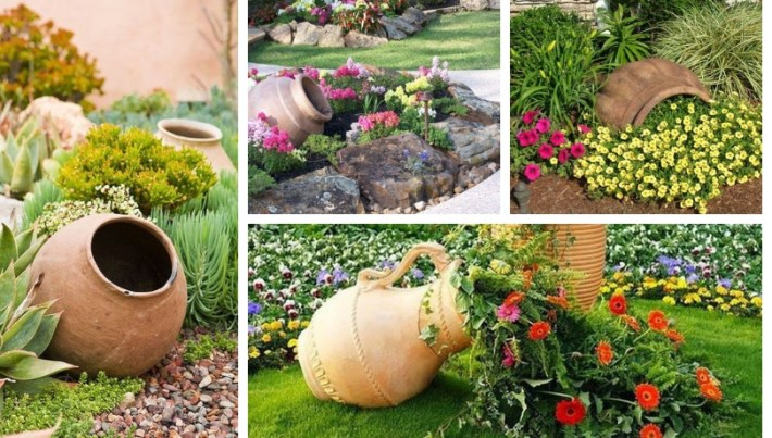 Clay Pots Decorative Stone And Flowers 28 Ideas For The Most