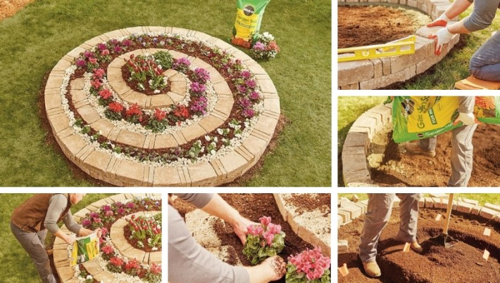 DIY Spiral flower-vegetable bed that will boost the look of your garden