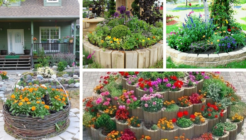 Round Flower Herb Vegetable Beds 40 Simple Ideas For Your