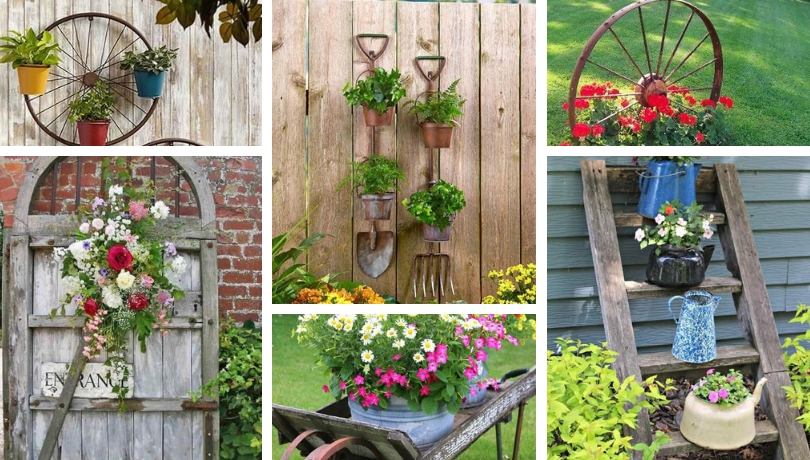 DIY ideas for Vintage garden decoration with old things ...