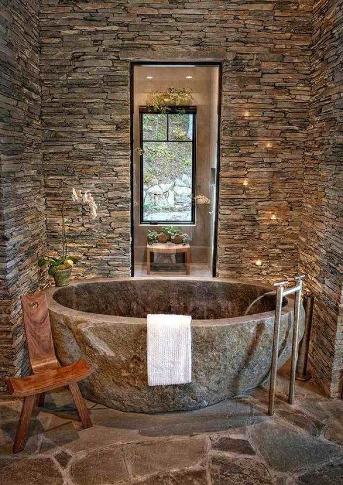 Bathroom Design With Natural Stone Superb And Elegant Design Ideas My Desired Home