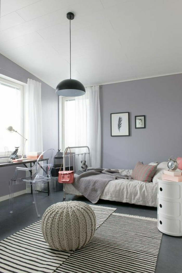 great girl s room in pink and gray