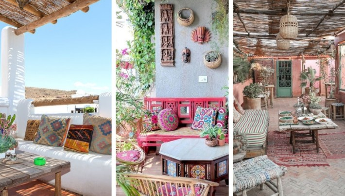 Ethnic outdoor summer decorations full of inspiration