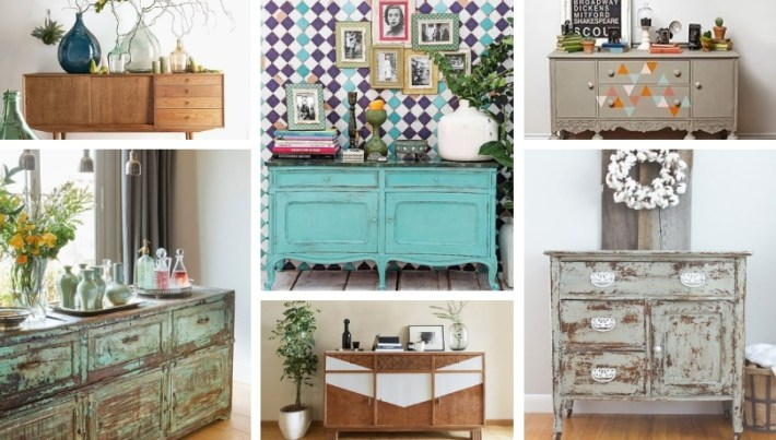 Wonderful decorations with antique sideboards