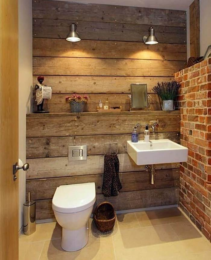 Rustic Bathroom 43 Gorgeous Ideas To, Small Rustic Bathrooms