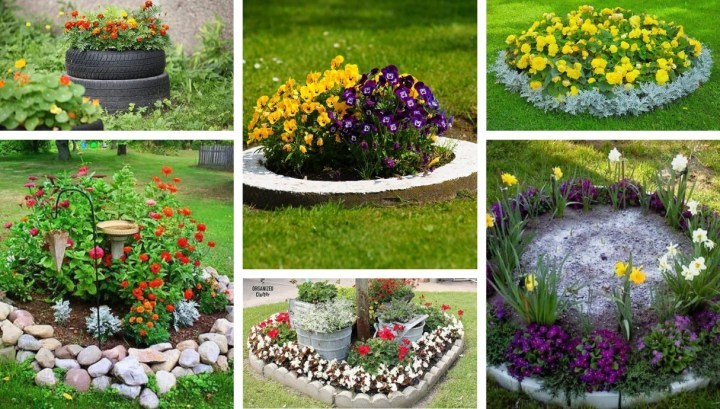 Improve your garden: 30 Inspiration ideas for round shape flower beds